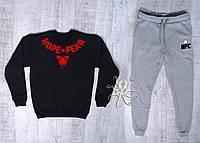 Мужской комбинированный спортивный костюм на флисе, зимний костюм UFC Hope Fear, Реплика