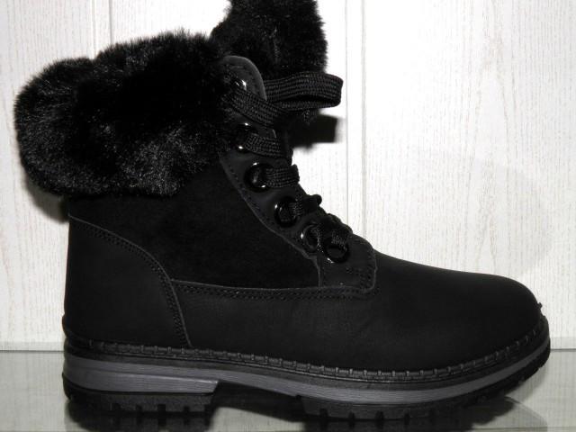 Ботинки женские Ideal 1130 черный зимние