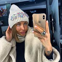 Женскую вязаную шапку в интернет магазине в категории шапки в ... d7efb39ec4d40