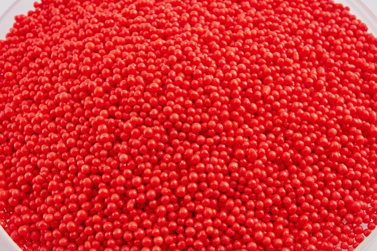 Посыпка алые шарики 2 мм 50 грамм