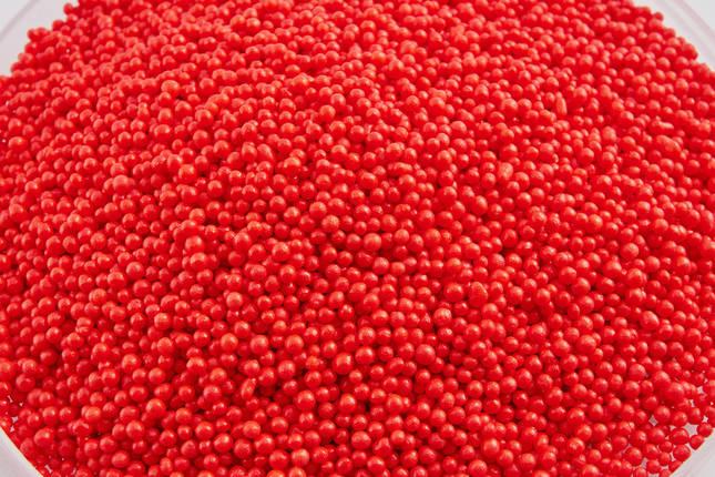 Посыпка алые шарики 2 мм 50 грамм, фото 2