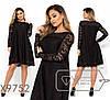 Гипюровое платье-трапеция в большиfmx размераfmx с декором fmx9752