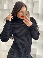 Вязаный женский свитер с высокой горловиной 58KF490, фото 1