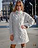 Свободное вязаное платье с воротником-стойкой 31PL2242