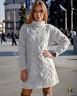 Свободное вязаное платье с воротником-стойкой 31PL2242, фото 1