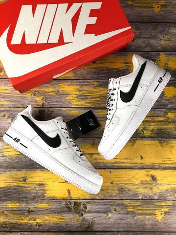 Мужские Кроссовки Nike Air Force 1 Low NBA Pack Серые (Реплика Люкс) 591daf1a80dca