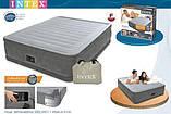 Надувна велюрова ліжко Intex 67770 з вбудованим насосом, фото 3