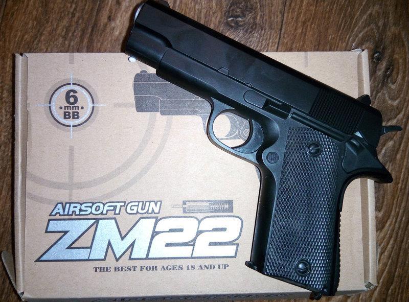 Пистолет метал для Airsoft ZM22