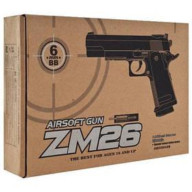 Пистолет метал для airsoft ZM26