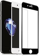 Защитное стекло на весь экран for Apple iPhone 7/8 face (black)