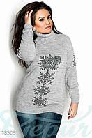 Батальный свитер снежинки Gepur 18508