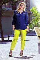 Классические узкие брюки большого размера Gepur 12217