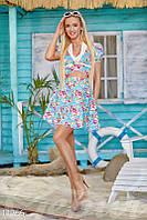 Красочный летний костюм с цветочным принтом Gepur 11756