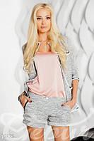 Персиковая базовая блузка Gepur 10775