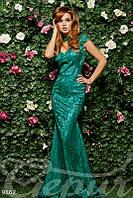 Вечернее гипюровое платье Gepur 9862
