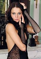 Черные перчатки сетка Anne De Ales Black, фото 1