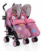Прогулочная коляска-трость для двойни Cosatto Supa Dupa Happy Stars