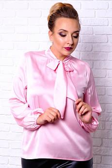 Рожева шовкова блузка Емілія