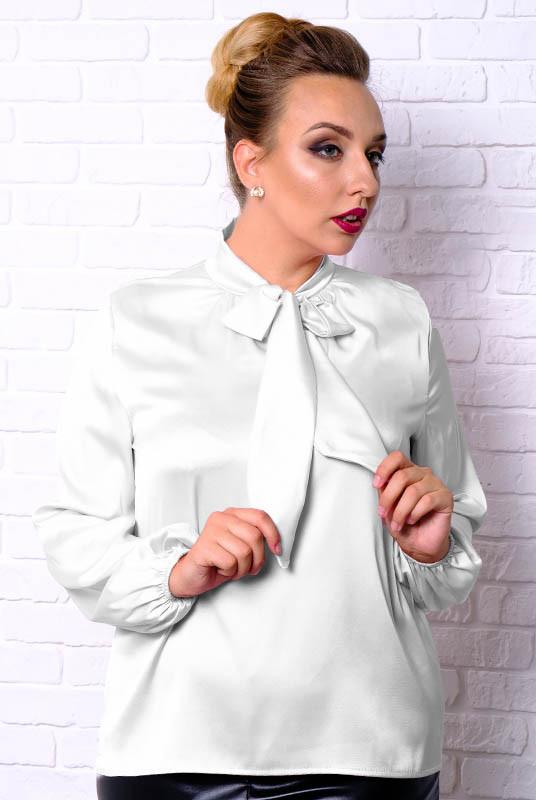 Белая офисная блузка Эмилия