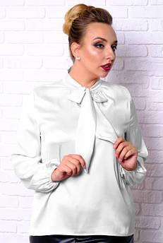 Білий офісний блузка Емілія