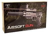 Пистолет с глушителем, прицелом, световыми эффектами RPC (2122-B4)