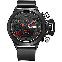 Часы Megir Black MG2002 (MN2002G/BK-1)