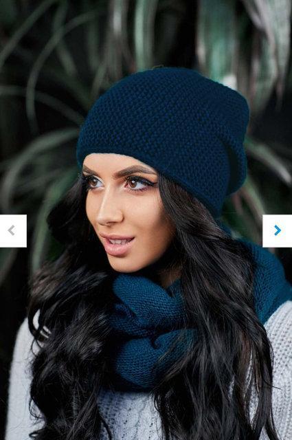 красивая вязаная шапка на флисе выбрать из шапкишарфыперчаток