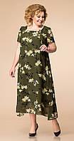 Платье Romanovich-1-1332/6 белорусский трикотаж, хаки, 52