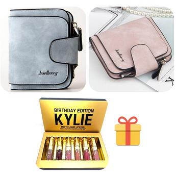 Женский кошелек Baellerry + набор помад Kylie Birthday Edition подарочный портмоне
