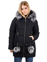Женская зимная куртка IRVIC N15174 46 Черный, КОД: 260983