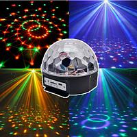 Светодиодный диско шар MP3 LED Crystall Magic Ball Light светомузыка, фото 1