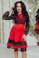 Платье с кружевом в расцветках 35047, фото 1
