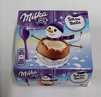 Конфеты Milka Snow balls, шоколадные снежки, 4х28 г (Бельгия)