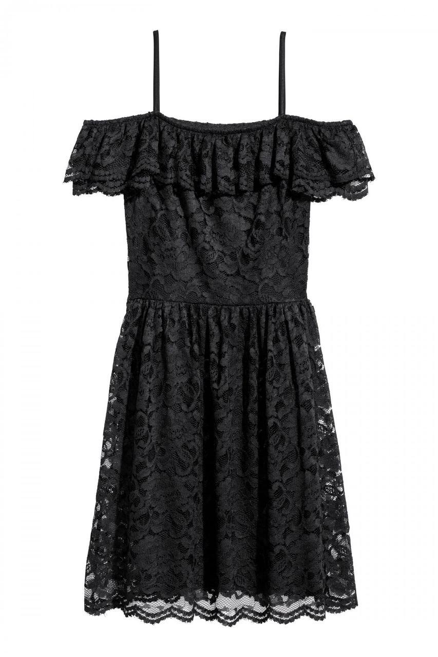 7692092cdbd Платье с Открытыми Плечами H M 42 Черное (0552405005) — в Категории ...