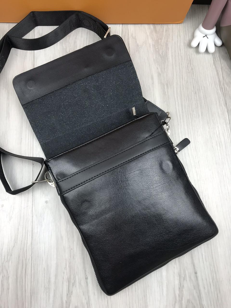 ddd1f25851ca ... Сумка мужская через плечо планшетка брендовая Mont Blanc черная копия  высокого качества, ...