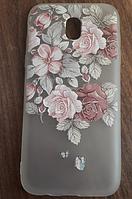 Чехол для Samsung Galaxy J5 2017, бампер, LM06, розы
