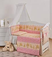 Комплект детской постели Twins Comfort New Игрушки 7 эл С-116, розовый (8489)