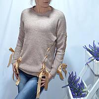Свитер женский бантики Турция оптом