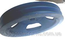 Шкив 2 х ручейный диаметром 280 мм. профиль ремня В, фото 2