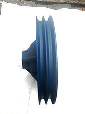 Шкив 2 х ручейный диаметром 280 мм. профиль ремня В, фото 3
