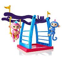 Фингерлингс Интерактивная обезьянка Лив и Симона от WowWee с детской площадкой и качелью, WowWee Fingerlings