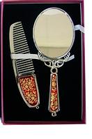 Зеркальце с расческой металл набор