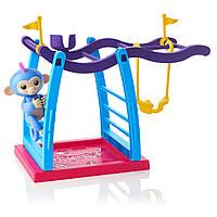 Інтерактивна мавпочка з дитячим майданчиком WowWee Fingerlings Monkey Bar Playground Liv The Baby Monkey