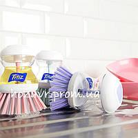 Щетка для посуды с емкостью для моющего средства (фиолетовая)