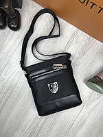 119fdb7e823a Сумка мужская через плечо планшетка брендовая Philipp Plein черная копия  высокого качества