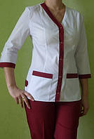 Медицинский костюм женский Радуга, бордо