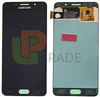 Дисплей для Samsung A710F Galaxy A7 (2016) + тачскрин, черный,  TFT, копия, без регулировки яркости