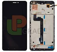 Дисплей для Xiaomi Mi Max /Mi Max Pro/Mi Max Prime + тачскрин, черный, с передней панелью