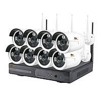 Комплект видеонаблюдения Partizan Outdoor Wireless Kit 2MP 8xIP v1.0