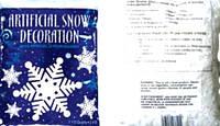 Снег искусственный хлопья 2,4 л